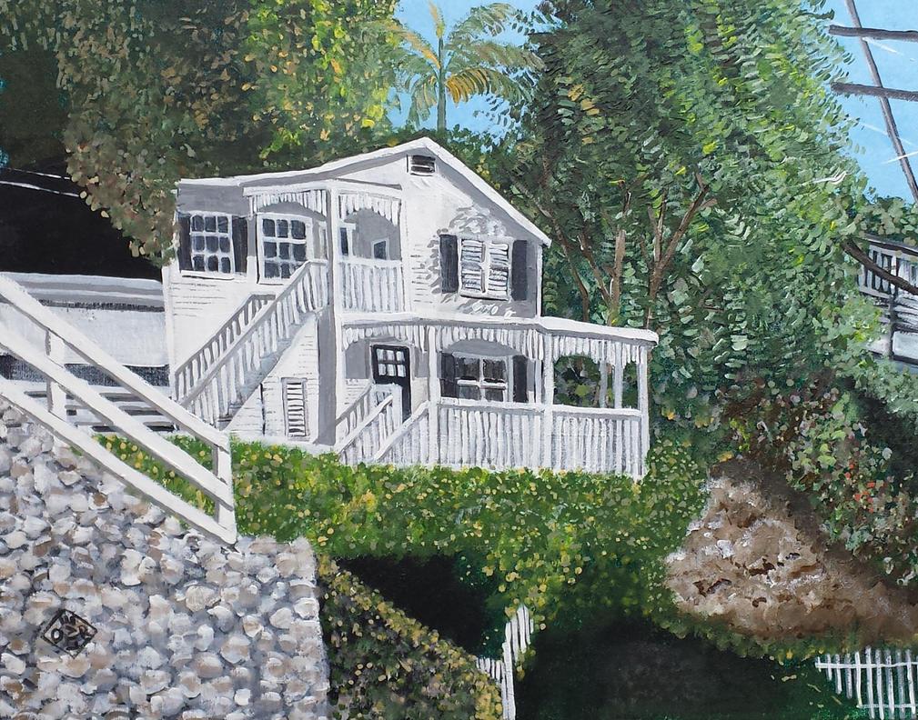 Hillside House by TomOliverArt