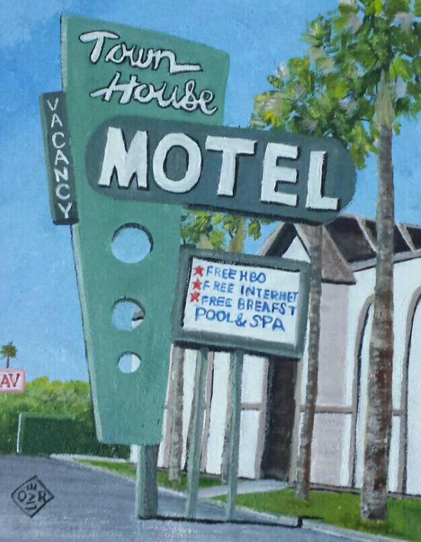 Town House Motel  by TomOliverArt