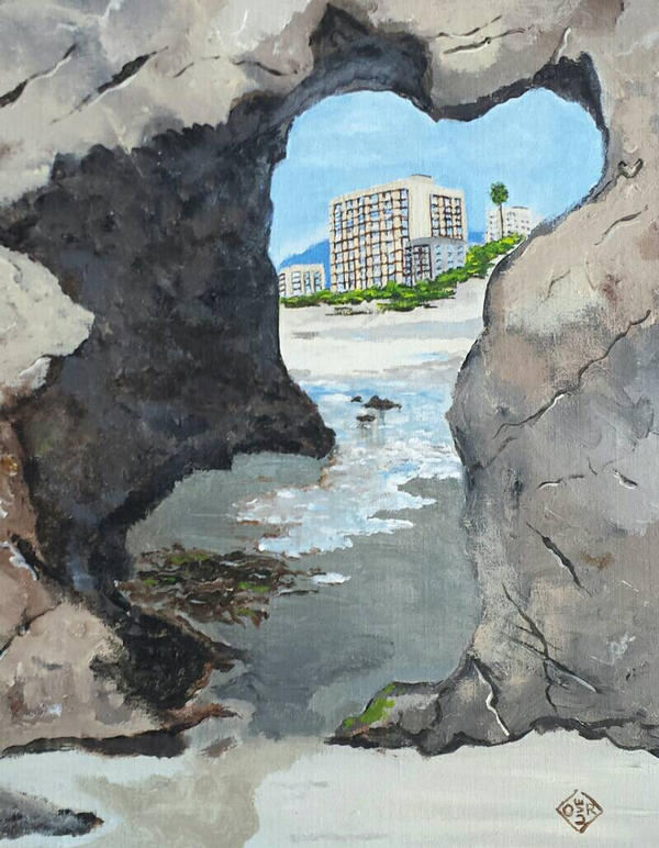 Laguna Beach Cave by TomOliverArt