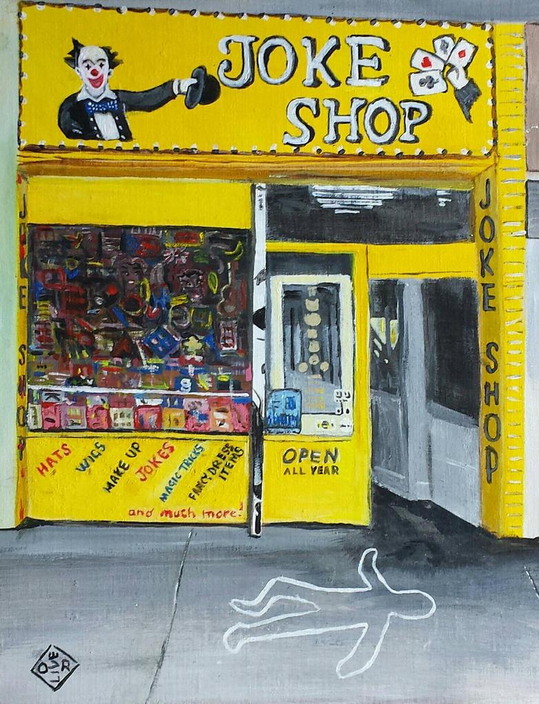 joke shop by TomOliverArt
