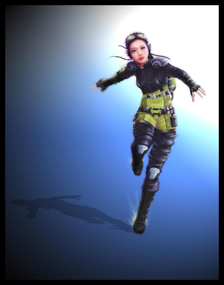 Sci-fi-girl by ymki on deviantART