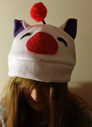Moogle Hat by yoyoninjagirl