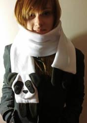 Panda Scarf by yoyoninjagirl