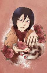 Mikasa Print by yoyoninjagirl