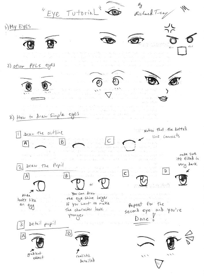 drawing tutorial anime eyes by gloomknight