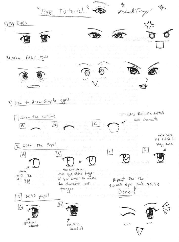 Drawing Tutorial: Anime Eyes by gloomknight on DeviantArt  Drawing Tutoria...