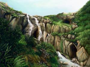 Speedpaint: Three Caves