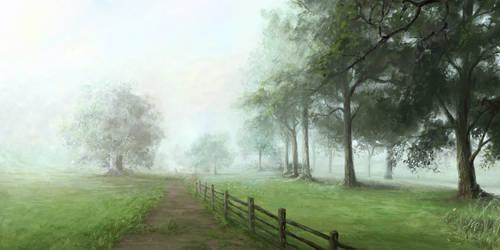 Dog Park II - Foggy 7AM