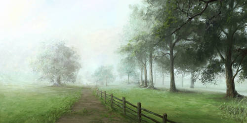 Dog Park II - Foggy 7AM by mynti