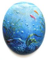 aquatic acrylic sketch by mynti