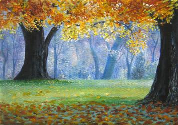 Doodle:  Autumn by mynti