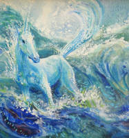 Unicorn Doodle by mynti