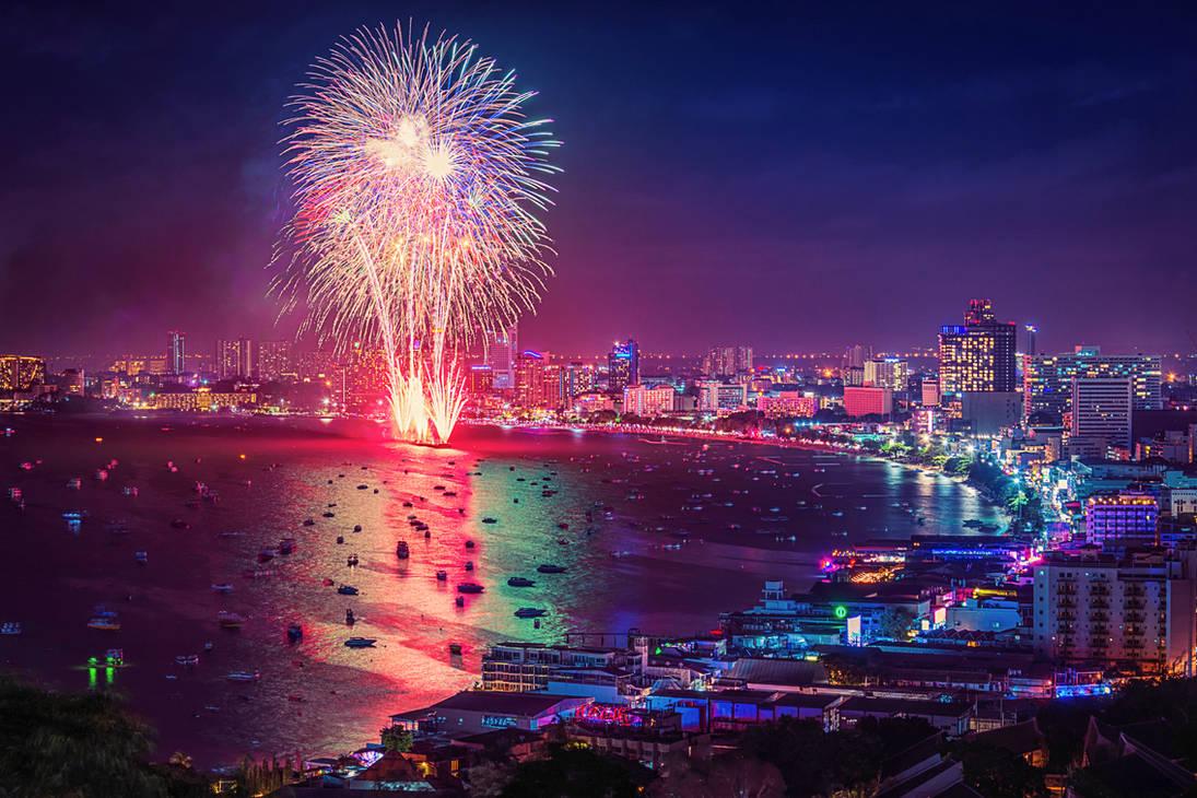 Pattaya international firework by Tairenar