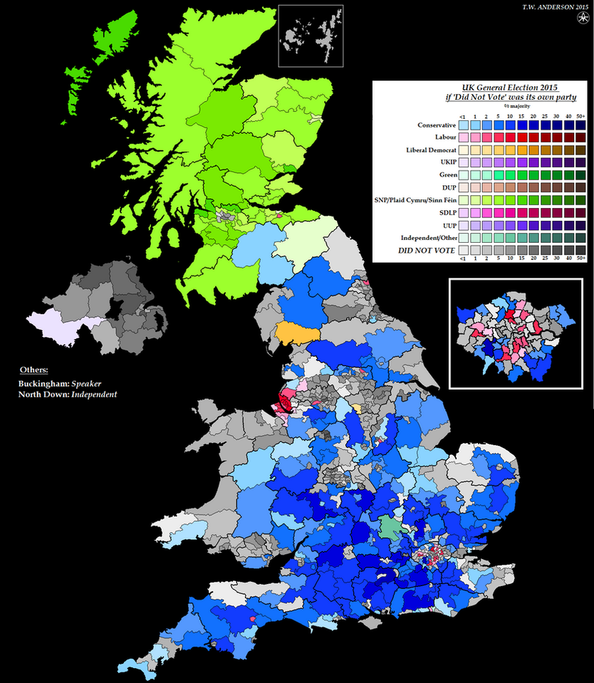 uk general election 2015 did not vote party by ajrelectionmaps