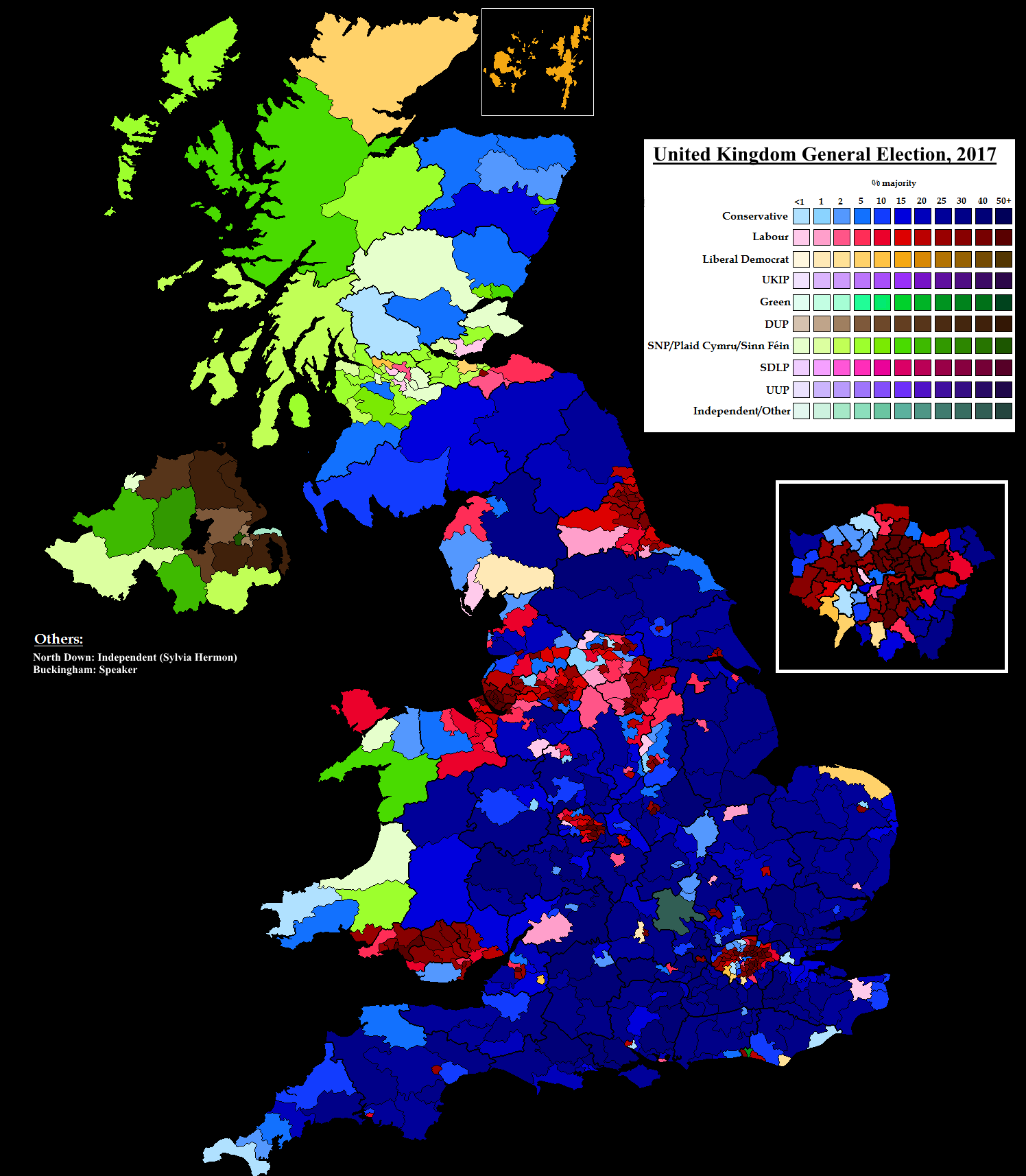 United Kingdom general election, 2017 by AJRElectionMaps ...