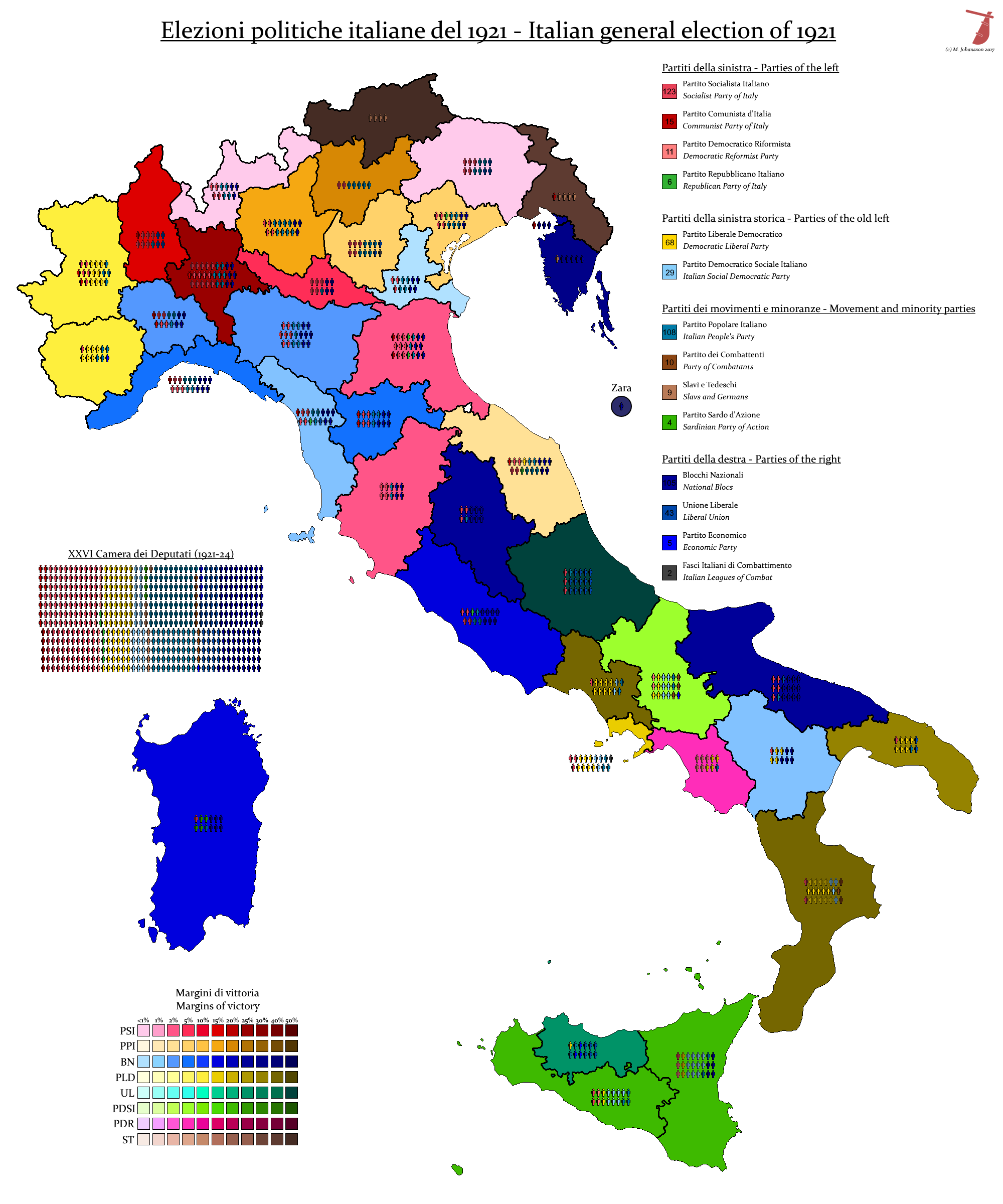 Italian General Election, 1921 by AJRElectionMaps on ...