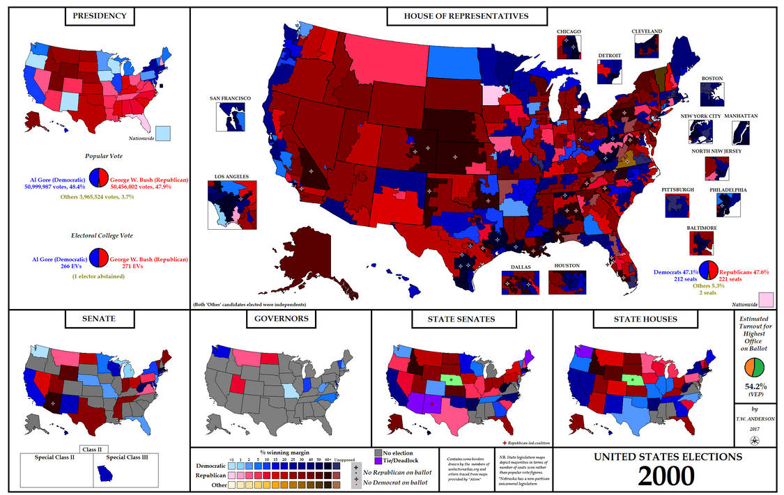 United States Elections 2000 By Ajrelectionmaps On Deviantart - 2017-us-election-map