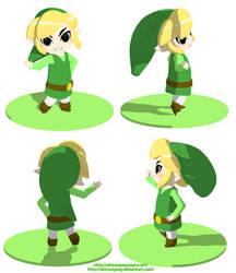 Toon Link 3D by AkiruNyang