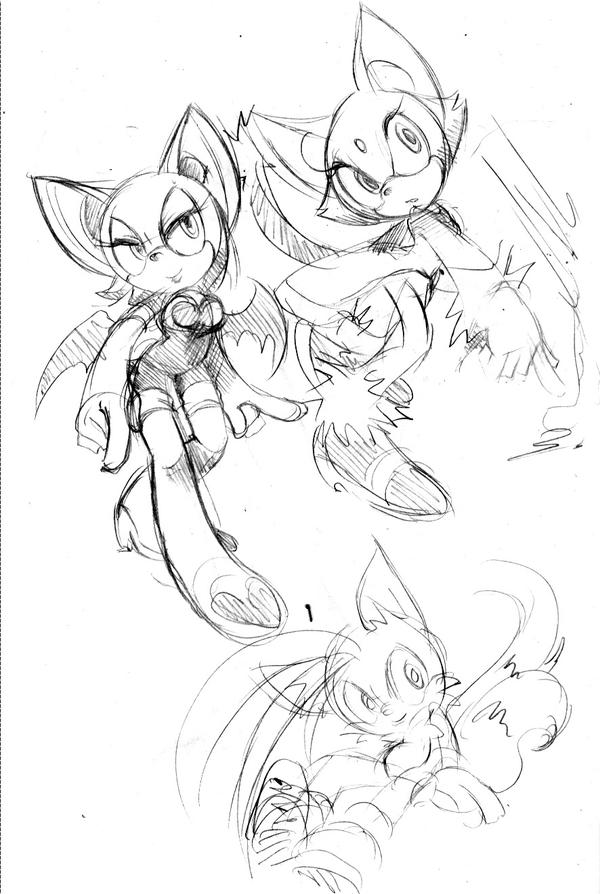 Sonic characters doodle 2 by AkiruNyang