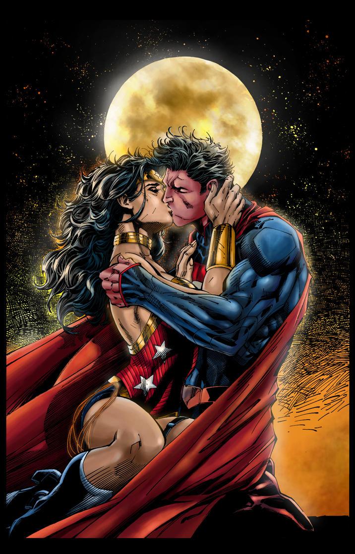 Superman/Wonder Woman by ObbArt on DeviantArt