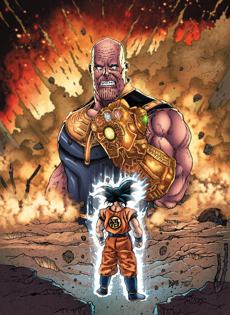 Thanos VS Goku (Colors) by ObbArt