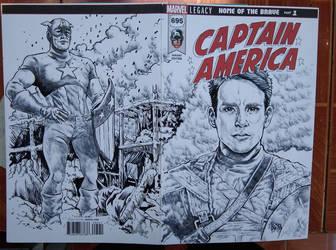 Captain America by ObbArt