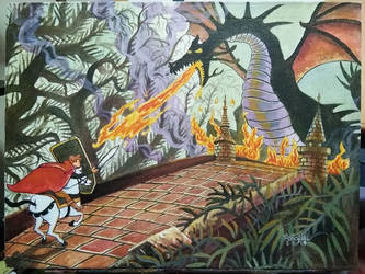 Prince Valiant vs Maleficent from Sleeping Beauty by ObbArt