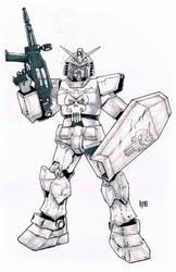 Gundam Punisher by ObbArt