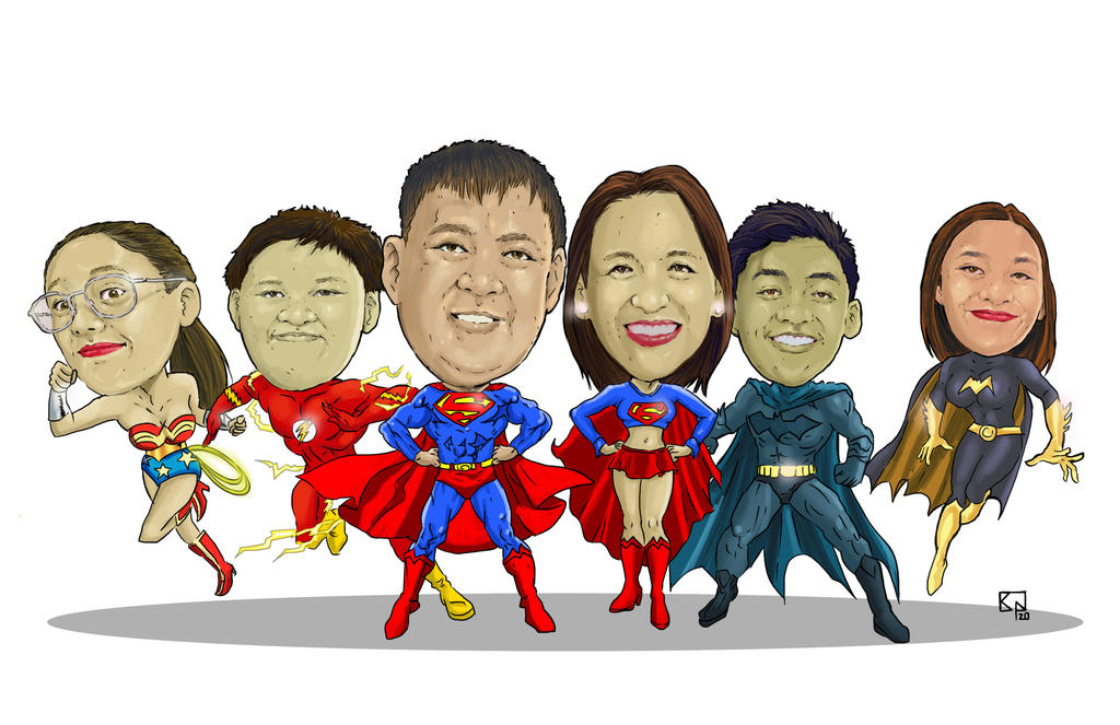 jo  Family caricature