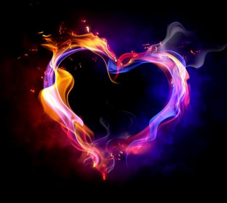 Flaming Heart by br1ana01