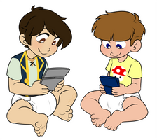 Gaming Bros by Natsu-cat (Commission)