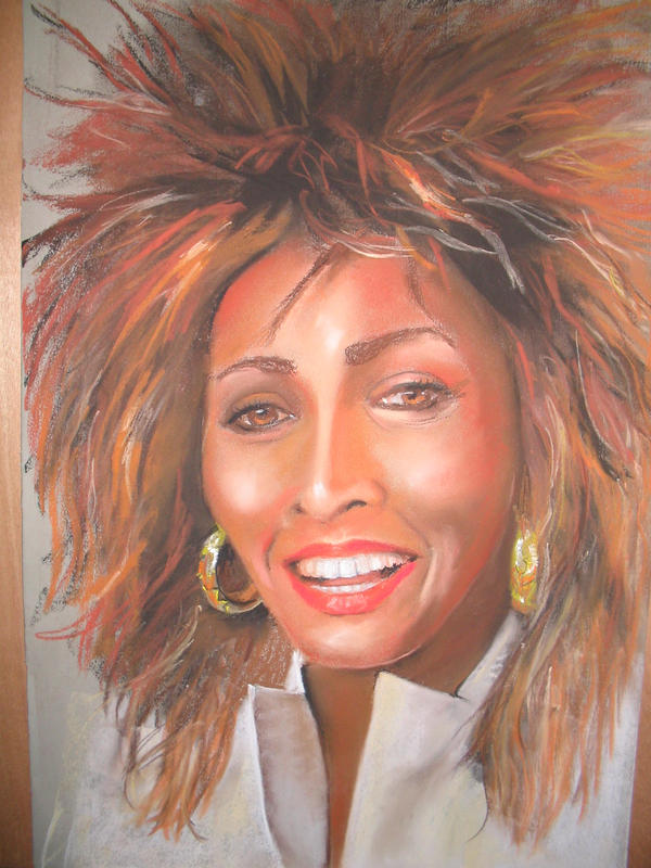 Portrait of Tina Turner by Pastelman