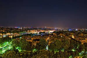View above Paris by Aerostylaz