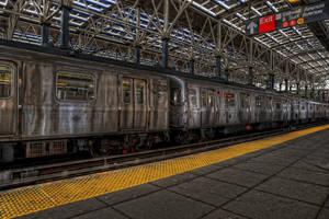 Coney Island Subway I by Aerostylaz