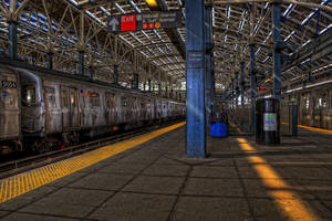 Coney Island Subway II by Aerostylaz