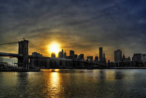 New York Sunset by Aerostylaz