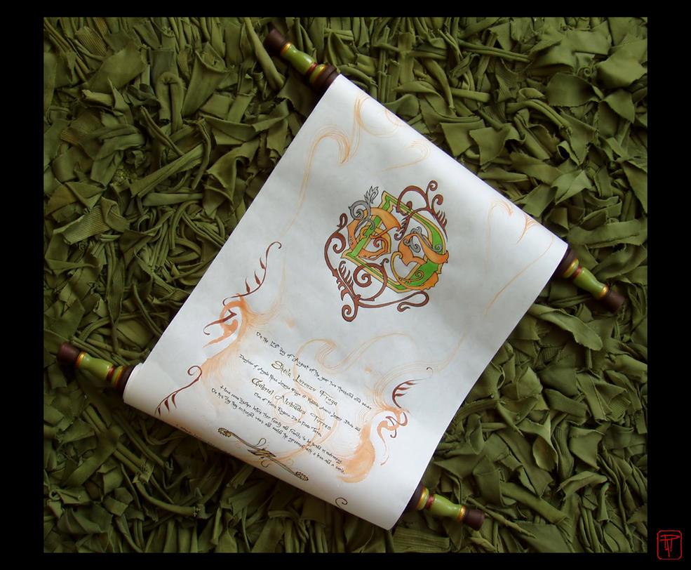 Wedding Monogram Scroll by BabyGig