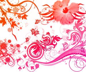 PS brushes: swirly roses by kakiii
