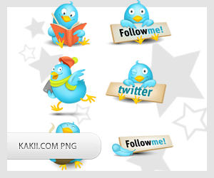 Free PNG twitter icons