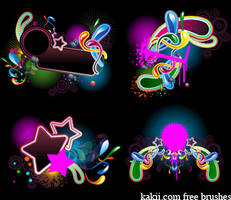Photoshop brushes: Fun Party Abstract