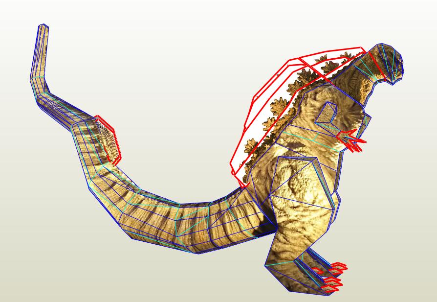Shin Godzilla Paper Model