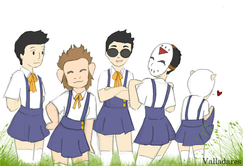 Schoolgirl a la mode, the sequel by ThatOneFan095 on ... H20 Delirious Drawings