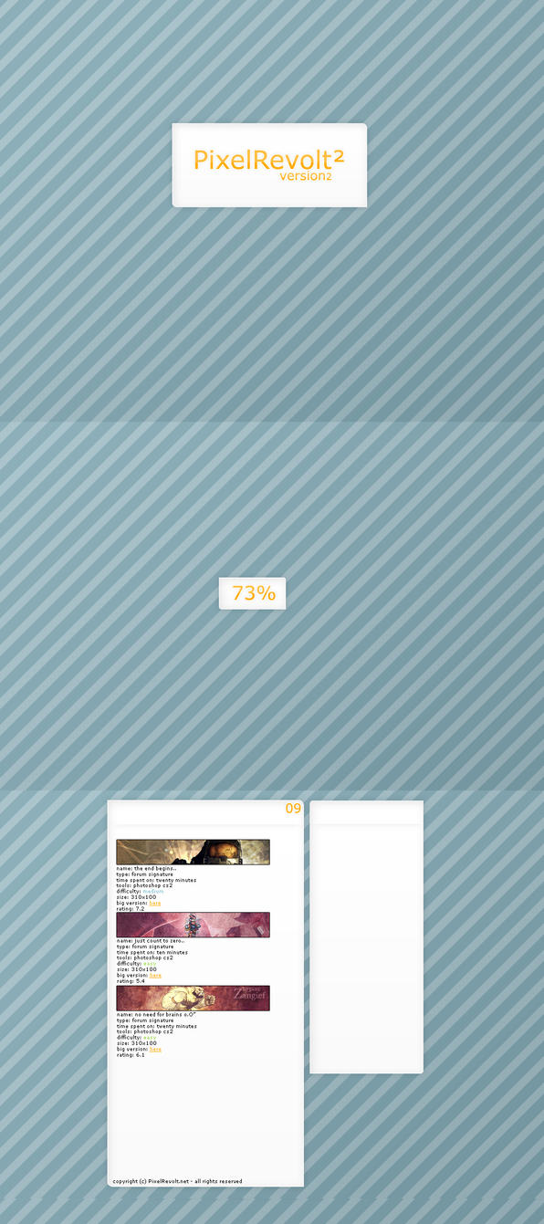 PixelRevolt ver. 2 layout by DiabeticDesigner