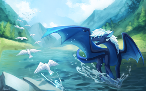 [FanArt/Trade] Debonair Lake + Speedpaint by NoUGrad