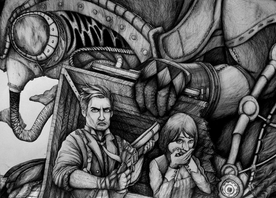 Bioshock Infinite by XantheUnwinArt