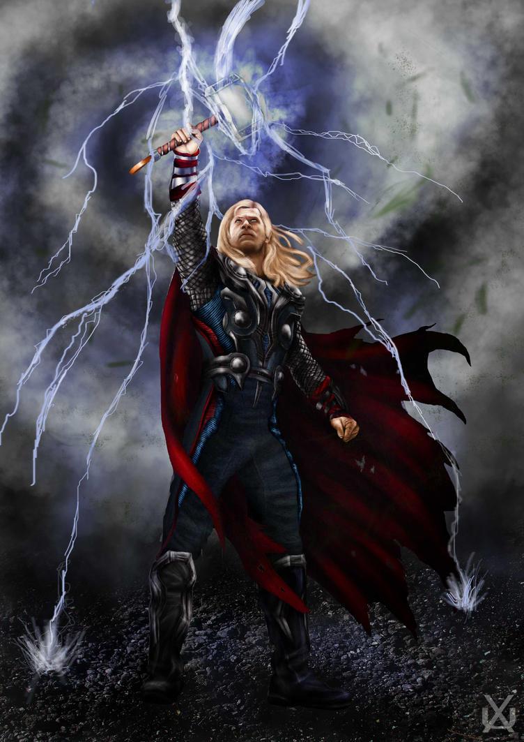 Thor by xantheunwinart on deviantart - Thor art wallpaper ...