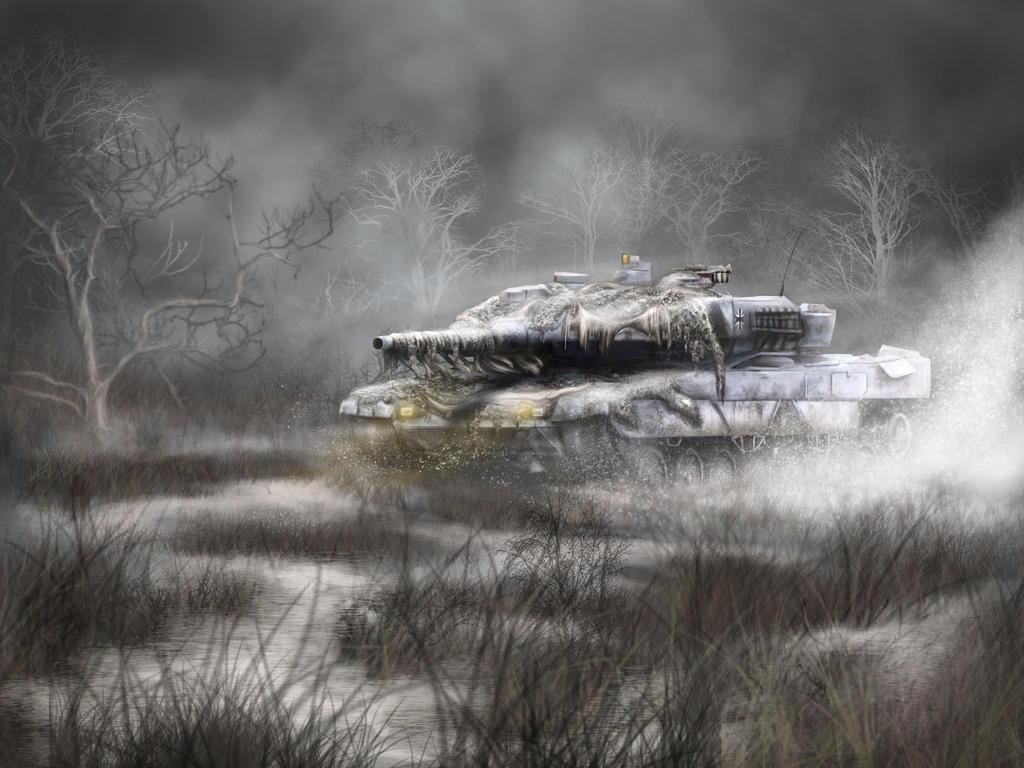 Leopard 2A6 German Tank by XantheUnwinArt