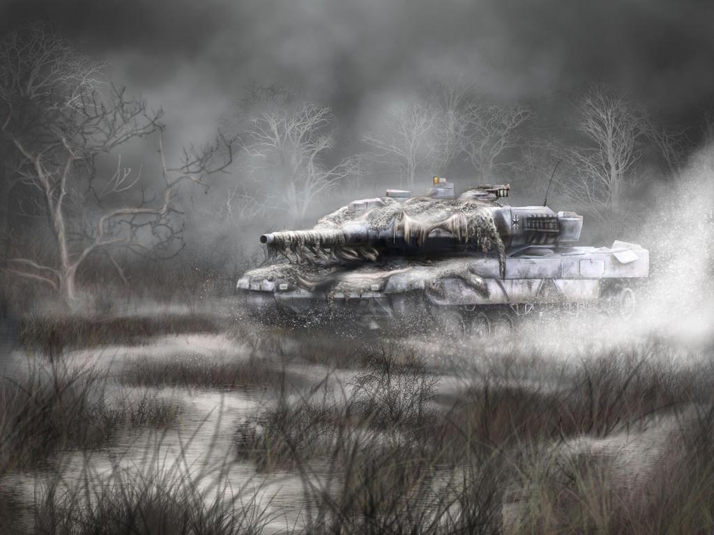 Leopard 2A6 German Tank final by XantheUnwinArt