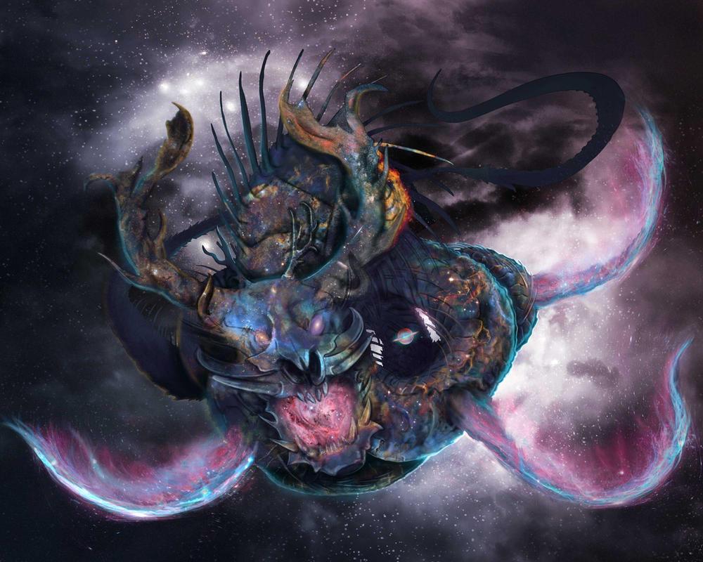 Eldritch Dragon WIP 6 by XantheUnwinArt