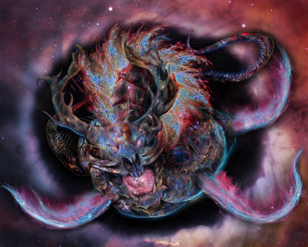 Eldritch Dragon WIP 9 by XantheUnwinArt